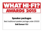 WHAT HI-FI AWARD 2015 for DALI ZENSOR 1 5.1 surround system.