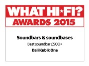 WHAT HI-FI AWARD 2015 for DALI KUBIK ONE sound system.